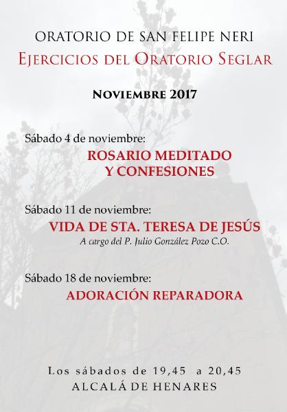 EJERCICIOS Oratorio Seglar noviembre